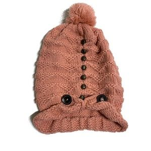 Handmade knitted unique oversized hat